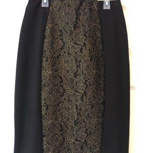 Beautiful laced elegant pencil skirt.